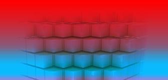 Голубые кубы Стоковое фото RF