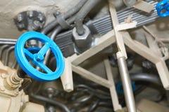 Голубые клапан и трубы Стоковая Фотография RF