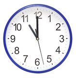 Голубые настенные часы Стоковое Изображение RF