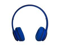 голубые наушники Путь клиппирования Стоковое фото RF