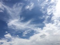 Голубые небо и пасмурный Стоковая Фотография RF