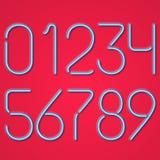 Голубые неоновые номера Стоковые Изображения RF