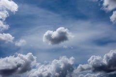Голубые облака и белые диаграммы воздуха Стоковая Фотография RF