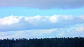голубые облака Промежуток времени акции видеоматериалы