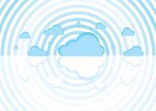 голубые облака иллюстрация вектора