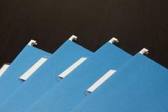 Голубые документы папок офиса Стоковые Изображения