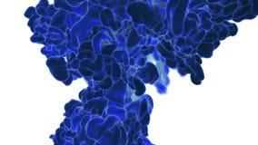 Голубые перегар или чернила Используйте его для предпосылки, перехода или верхних слоев чернила или дым элемента VFX графиков дви бесплатная иллюстрация