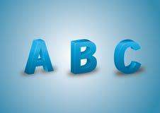 Голубые письма 3D Стоковые Фото