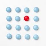 голубые пилюльки красные Стоковое Фото