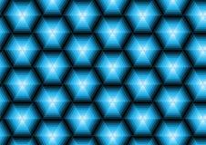 Голубые полигоны иллюстрация вектора