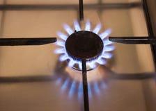 Голубые пламена природного газа Стоковые Изображения RF