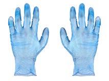 Голубые резиновые перчатки Стоковые Фото