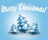 голубые рождественские елки Стоковая Фотография