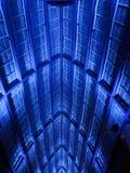 Голубые света на крыше Palapa Стоковые Фотографии RF