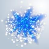 Голубые световые лучи или яркая звезда Прозрачное влияние зарева вектор Стоковое Изображение