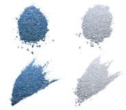 Голубые & серебряные тени глаза стоковое изображение rf