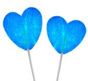 Голубые сердца Стоковые Фотографии RF