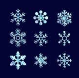 Голубые сияющие снежинки Стоковое фото RF