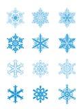 голубые снежинки Стоковое Изображение