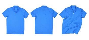 Голубые собрания рубашки поло изолированные Стоковое Фото
