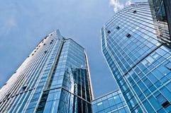 Голубые современные здания архитектуры Стоковое Фото