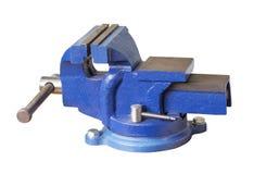 Голубые стальные тиски Стоковые Фотографии RF