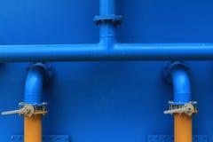 голубые трубы Стоковое Изображение