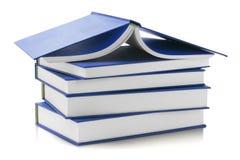 Голубые трудные книги крышки Стоковое Изображение