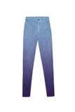 Голубые фиолетовые брюки джинсов градиента, изолированные на белой предпосылке Стоковые Фотографии RF