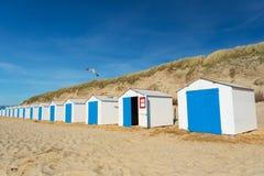 Голубые хаты пляжа Стоковое Изображение RF