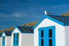 Голубые хаты пляжа Стоковая Фотография