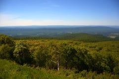 Голубые холмы и долина Риджа Стоковые Фото
