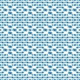 Голубые цветки на картине белой предпосылки безшовной vector иллюстрация Стоковое Изображение