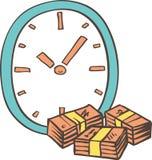 Голубые часы и валюшки Стоковое фото RF