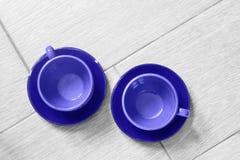 голубые чашки Стоковое Изображение