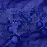 голубые человеческие социальные сеть 3d и руководство Стоковая Фотография RF