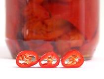 голубые чили пылают горячий излишек красный цвет перца Стоковые Изображения RF