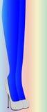 Голубые чулки иллюстрация вектора