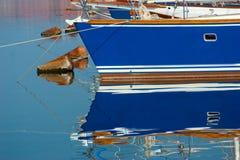 голубые шлюпки Стоковая Фотография