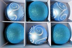 Голубые baubles рождества Стоковое Фото