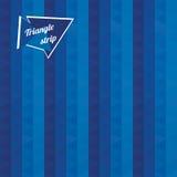 Голубыми картина striped треугольниками Стоковая Фотография