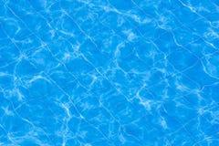 Голубым вода струят бассейном, который Стоковое Изображение