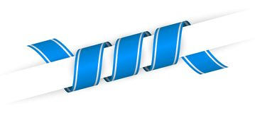 Голубым лента переплетенная рождеством иллюстрация вектора