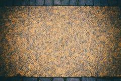 Голубым и оранжевым текстурированная grunge рамка стены Стоковое Изображение RF
