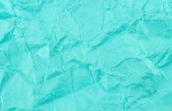 Голубым крошенная teal рециркулированная бумажная текстура предпосылки Стоковое Фото