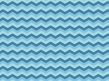 Голубым текстурированная зигзагом предпосылка картины ткани Стоковые Изображения