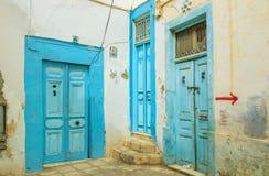 3 голубых двери Стоковые Фотографии RF