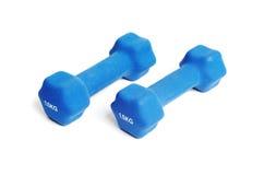 2 голубых гантели резины 1.5kg Стоковые Изображения