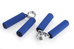 2 голубых детандера изолированного на белизне Стоковая Фотография RF