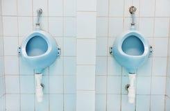 2 голубых писсуара Стоковые Изображения RF
